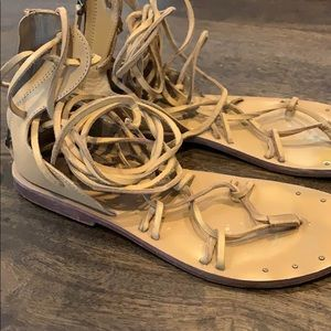 Zara gladiator leather sandals size 7